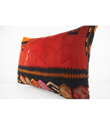Turkish Kilim Pillow 16X24, ID 449, Kilim From Kars