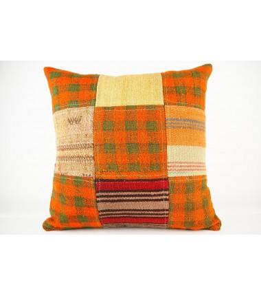 Turkish Kilim Pillow 19x19, ID 445, Kilim From Malatya