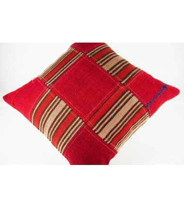 Turkish Kilim Pillow 19x19, ID 443, Kilim From Malatya