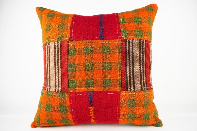 Turkish Kilim Pillow 19x19, ID 442, Kilim From Malatya