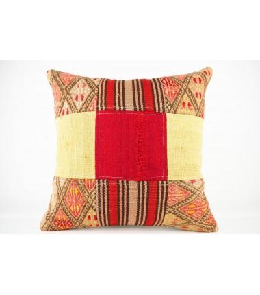 Turkish Kilim Pillow 19x19, ID 441, Kilim From Malatya
