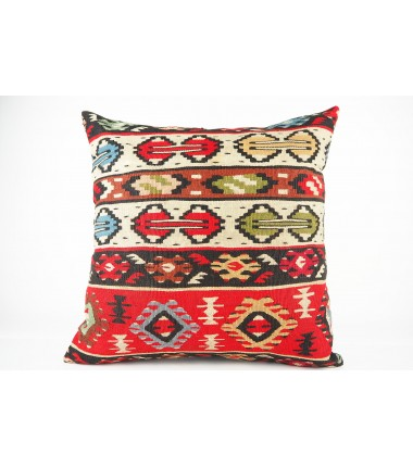 Turkish Kilim Pillow 20x20, ID 440, Kilim From Sarkoy