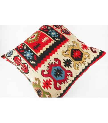 Turkish Kilim Pillow 20x20, ID 439, Kilim From Sarkoy
