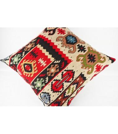 Turkish Kilim Pillow 20x20, ID 436, Kilim From Sarkoy