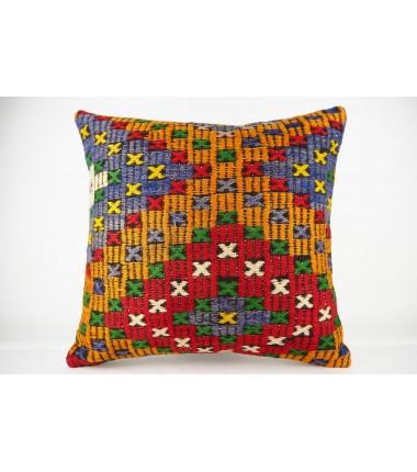 Turkish Kilim Pillow 20x20, ID 434, Kilim From Konya