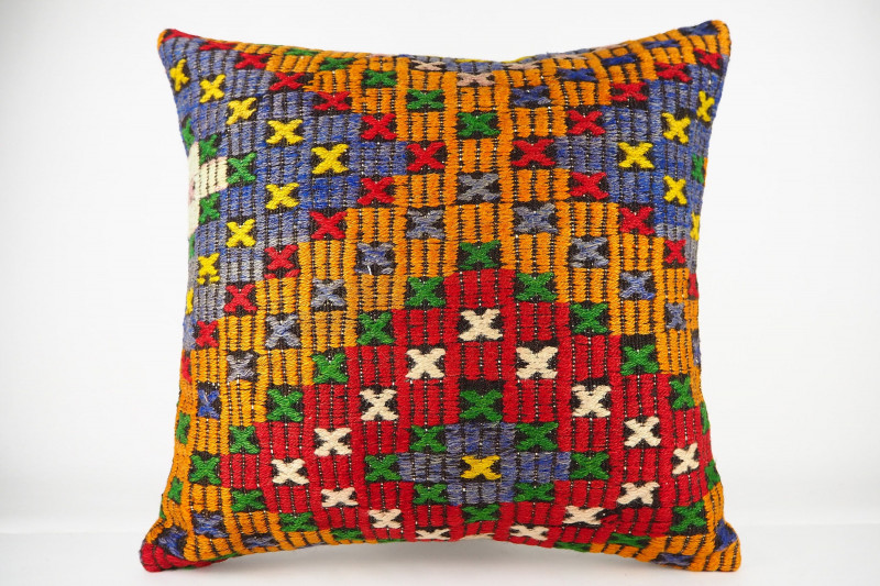 Turkish Kilim Pillow 20x20, ID 434, Kilim From Konya