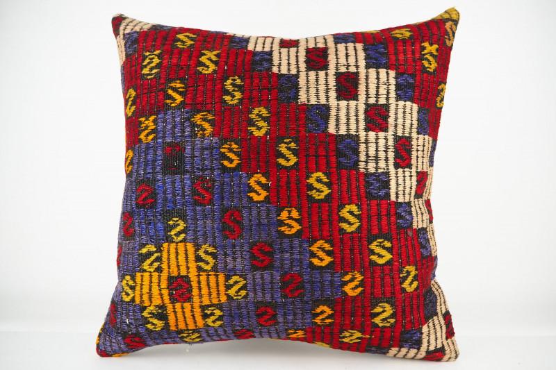 Turkish Kilim Pillow 20x20, ID 433, Kilim From Konya