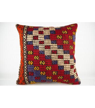 Turkish Kilim Pillow 20x20, ID 432, Kilim From Konya