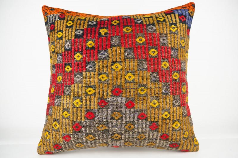 Turkish Kilim Pillow 20x20, ID 431, Kilim From Konya