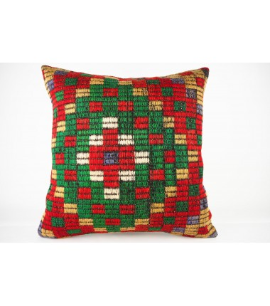 Turkish Kilim Pillow 20x20, ID 429, Kilim From Konya