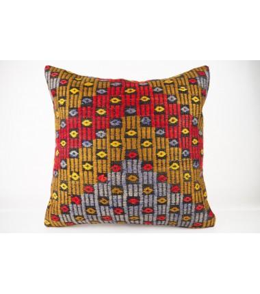 Turkish Kilim Pillow 20x20, ID 426, Kilim From Konya