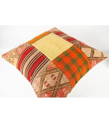 Turkish Kilim Pillow 20x20, ID 430, Kilim From Malatya