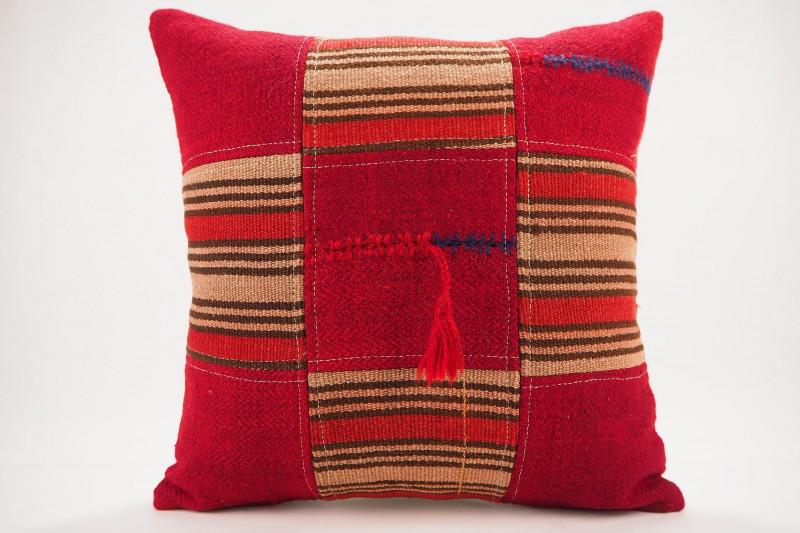 Turkish Kilim Pillow 19x19, ID 405, Kilim From Malatya