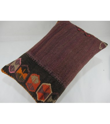 Turkish Kilim Pillow 16x24, ID 277, Kilim From Kars