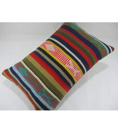Turkish Kilim Pillow 16X24, ID 279, Kilim From Adiyaman