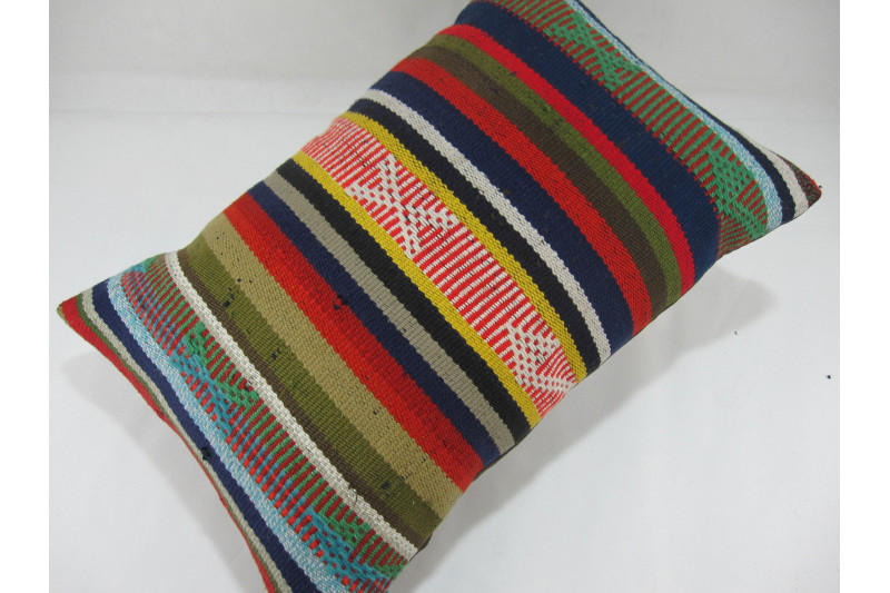 Turkish Kilim Pillow 16x24, ID 276, Kilim From Adiyaman