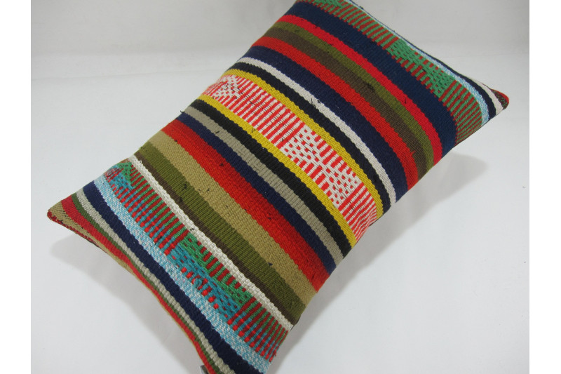 Turkish Kilim Pillow 16X24, ID 278, Kilim From Adiyaman