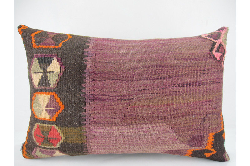 Turkish Kilim Pillow 16x24, ID 275, Kilim From Kars