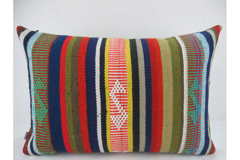 Turkish Kilim Pillow 16X24, ID 274, Kilim From Adiyaman