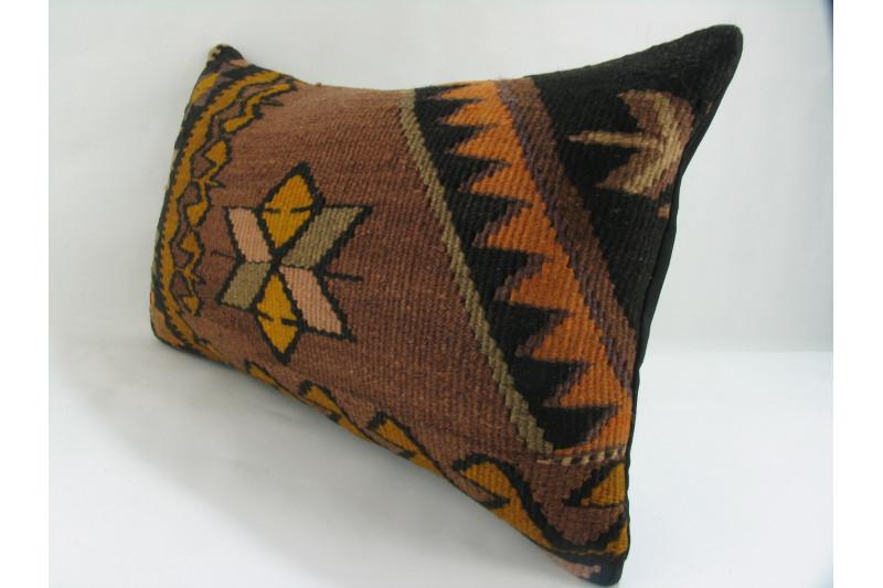 Turkish Kilim Pillow 12x20, ID 242, Kilim From Kars