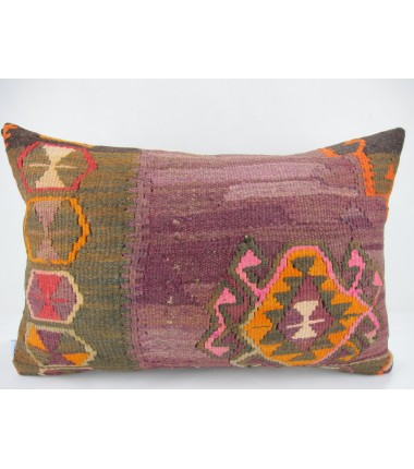 Turkish Kilim Pillow 16X24, ID 273, Kilim From Kars