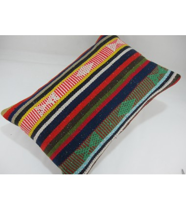 Turkish Kilim Pillow 16X24, ID 272, Kilim From Adiyaman