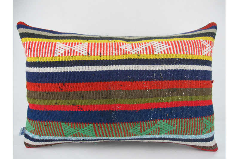 Turkish Kilim Pillow 16x24, ID 270, From Adiyaman