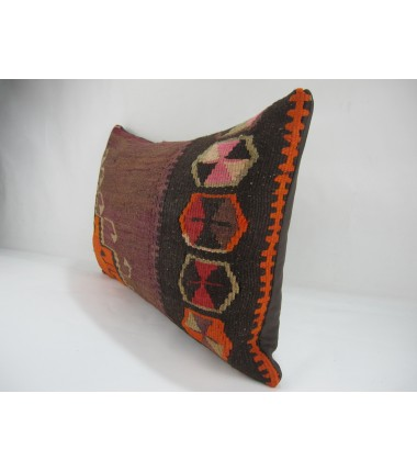 TURKISH KILIM PILLOW 16X24, ID 269, KILIM FROM KARS