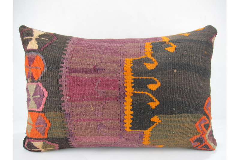 Turkish Kilim Pillow 16x24