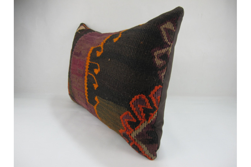 Turkish Kilim Pillow 16x24, ID 268, Kilim From Kars
