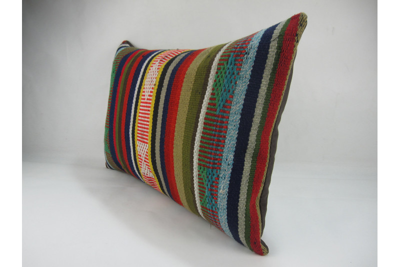 Turkish Kilim Pillow 16x24, ID 267, Kilim From Adiyaman