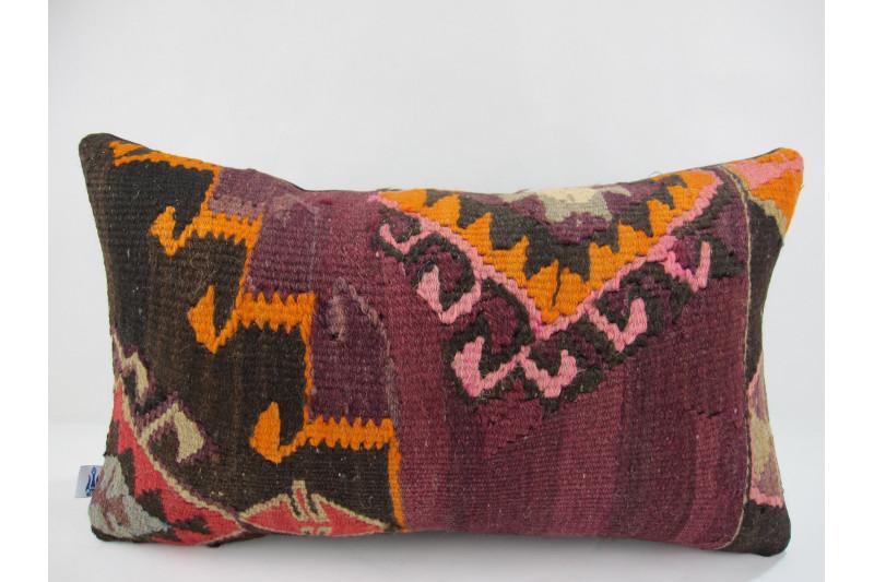 Turkish Kilim Pillow 12x20, ID 238, Kilim From Kars