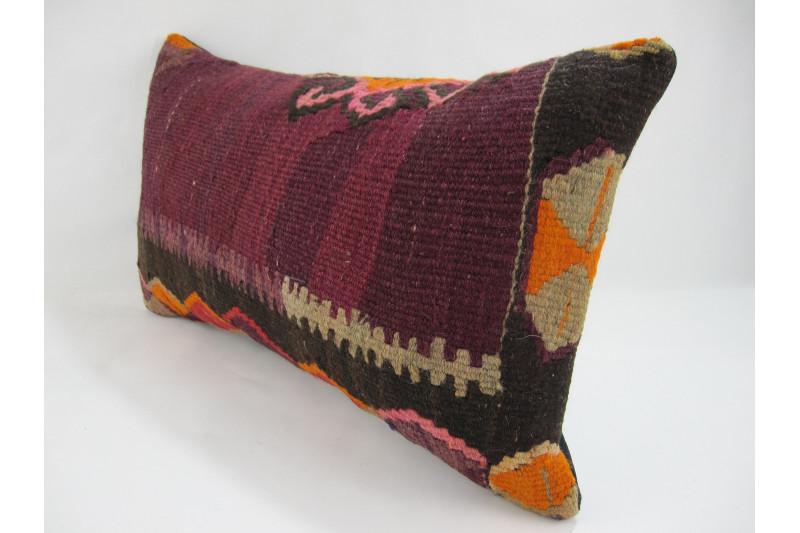 Turkish Kilim Pillow 12x20, ID 237, Kilim From Kars
