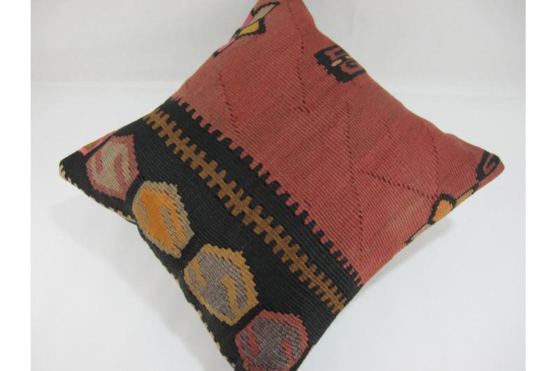 Turkish Kilim Pillow 16x16, ID 248, Kilim From Kars