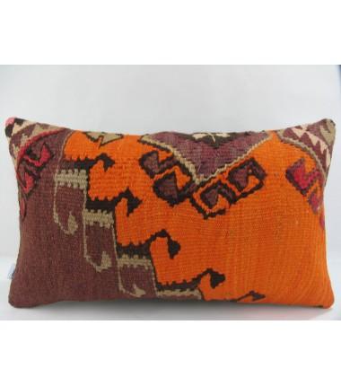 Turkish Kilim Pillow 12x20, ID 241, Kilim From Kars