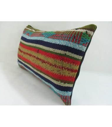 Turkish Kilim Pillow 12x20, ID 245, Kilim From Adiyaman