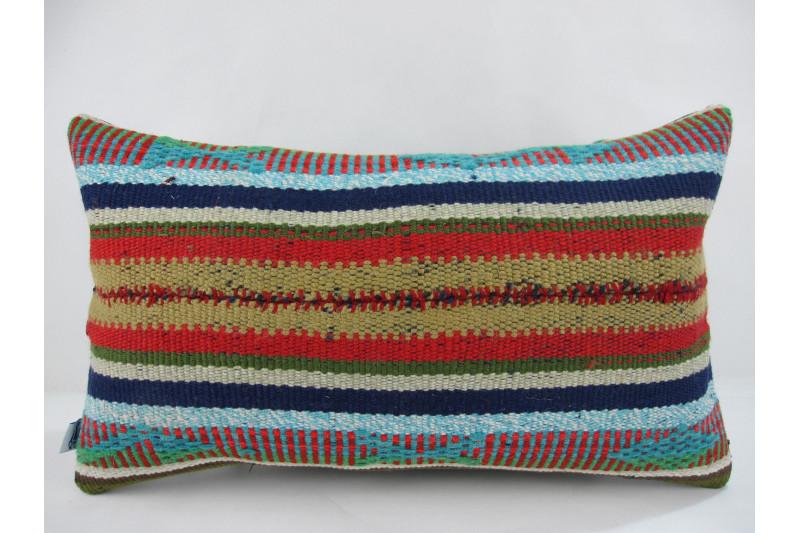 Turkish Kilim Pillow 12x20, ID 246, Kilim From Adiyaman