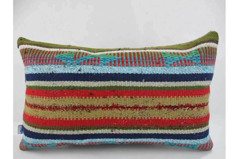Turkish Kilim Pillow 12x20, ID 235, Kilim From Adiyaman