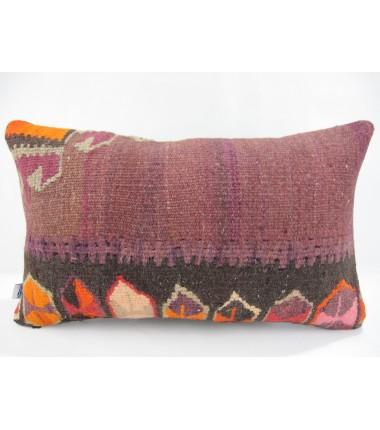 Turkish Kilim Pillow 12x20, ID 234, Kilim From Kars
