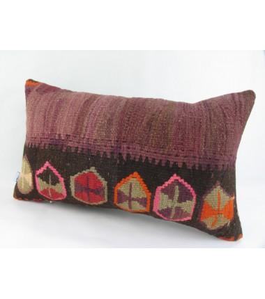 Turkish Kilim Pillow 12x20, ID 219, Kilim From Kars