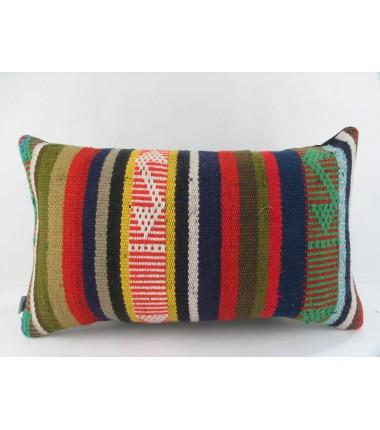 Turkish Kilim Pillow 12x20, ID 216, Kilim From Adiyaman
