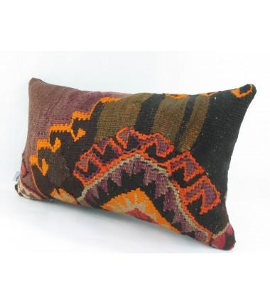 Turkish Kilim Pillow 12x20, ID 218, Kilim From Kars