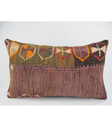 Turkish Kilim Pillow 12x20, ID 230, Kilim From Kars