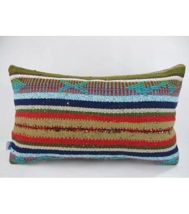 Turkish Kilim Pillow 12x20, ID 229, Kilim From Kars