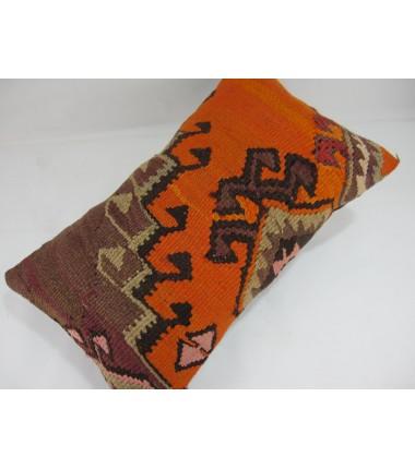 Turkish Kilim Pillow 12x20, ID 227, Kilim From Kars