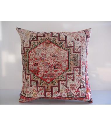 Turkish Kilim Pillow 20x20, ID 177, Kilim From Anatolia