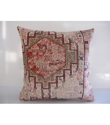 Turkish Kilim Pillow 20x20, ID 176, Kilim From Anatolia