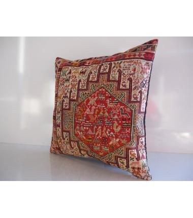 Turkish Kilim Pillow 20x20, ID 175, Kilim From Anatolia