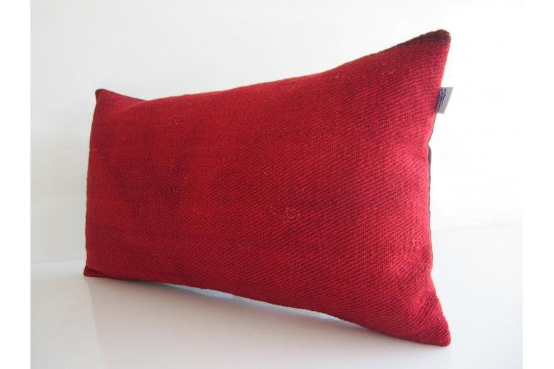 Turkish Kilim Pillow 12x20, ID 165, Kilim From Malatya