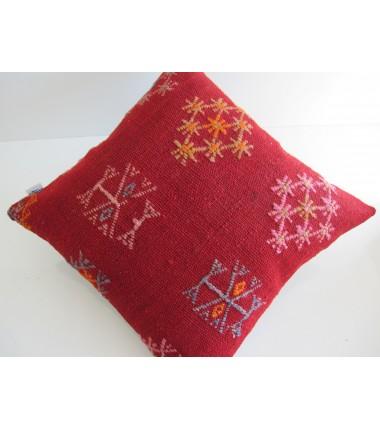 Turkish Kilim Pillow 16x16, ID 144, Kilim From Sivas
